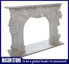 hunan mármore branco natural esculpida lareira interior