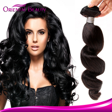 Sunny queen long black loose wave Malaysian remy hair weaving wholesale