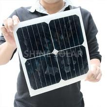 Custom made PET/ETFE/Fiberglass mini flexible solar panel 10w 12v for backpack and handbag