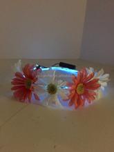 2015 Hippie rave Led light up flower halo crown/ flower headband