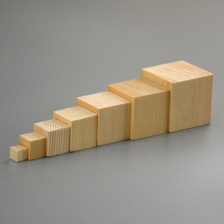 Natural Unfinished Pine: Natural Unfinished Wood Blocks 40mm Pine Wood Big Wooden