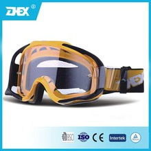 TPU frame clear lens MX goggles,motorcycle goggles