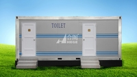 portable toilets cabin,movable toilet, 20ft construction container