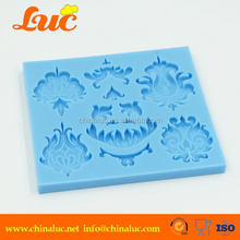 Lsm051 Wedding Cake Decoration Custom Fondant Flower Silicone Mould