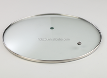 Manufacturer various types cheap cookware glass cover with stainless steel rim