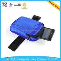 Fashion mens zipper pouch velcro closing waterproof wrist wallet running