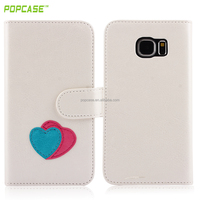 leather flip case for samsung S6