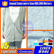 Wholesale high quality gray pure wool knitted fabric for jacket