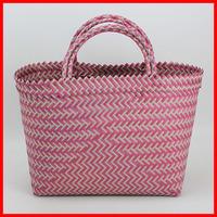 Colorful fancy weaving PP 100% handmade woven women bags