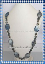 Beautiful baroque bule pearl necklace BQ026
