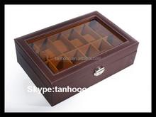 Black Pu Leather Watch Box With Velvet Inside watch box