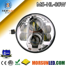 2015 factory! DOT approved 80w hi/lo beam 7'' led headlight for Jeep Wrangler CJ TJ with DRL ring