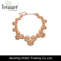 2015 new products wholesale china factory zinc alloy choker necklace with bud silk series