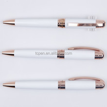 new special rose-gold clip metal ballpen for promotion