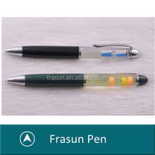 Sand Glass Custom Logo Personized Floater Pen With Floating