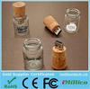 Wine cork shape USB disk flash drive, Customized glass bottle usb stick, Glass jar bottle usb thumb drive gadget usb