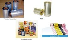 PVC film , PVC Shrink Labels, BOPP, Printed Flexible Laminates, Laminated Pouches,