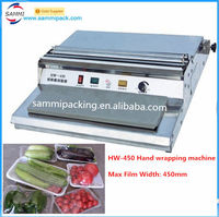 High Quality HW-450 Cling Film Tray Wrapping Machine with best price