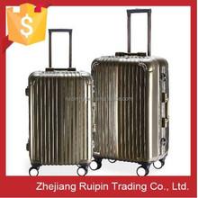cool aluminum rolling TSA men luggage case