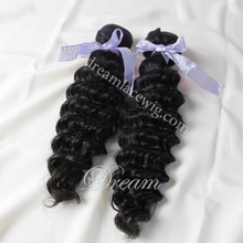 Brazilian virgin hair/human hair extensions deep wave hairstyles for black women