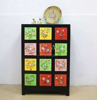 Living Room Cabinet With Multi Colorful Drawers Home Furniture Wood Funiture Rectangle Chest Of Drawer