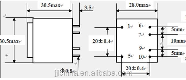 230v 12v ac power transformer