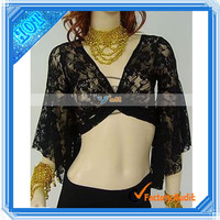Belly Dance Costume Lace Top Black (F00326)