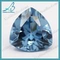Wuzhou atacado Aquamarine preços forma de triângulo Synthetic Aquamarine Gemstone