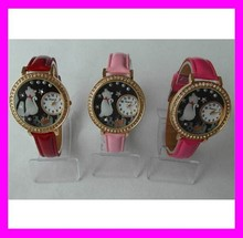 Wholesale good quality leather international wrist watch brands for girls HD2263