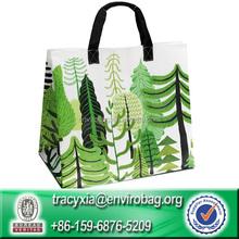 Eco-friendly laminated woven polyester Reusable shopping tote bag