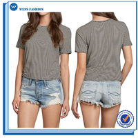 Newest Design Custom Shape Printed Casual T-Shirts Cotton Polyester Blend For Women
