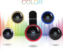 5PCS/LOT Mobile phone Universal 0.4X Super Wide Angle Fisheye Camera for iPhone 4 5 6 Samsung S4 S5