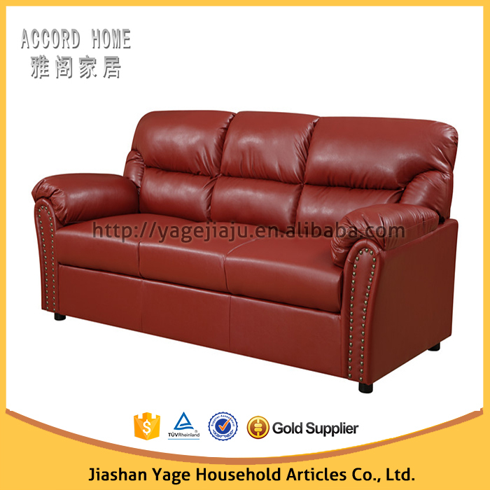 new design genuine leather sectional sofa