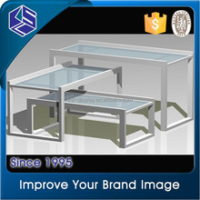 Attractive Metal mens clothing showcase/retail shop clothes display table