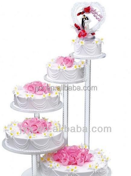 5 Tier Clear Acrylic Wedding Cake Stand