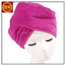 Durable Microfiber hair turban towel personalized hair wrap c