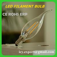 2014 Newest Design CE RoHS E14 Led 6W. LED Filament Bulb