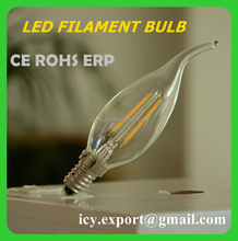 2014 Newest Design CE RoHS E14 Led 6W. LED Filament Bulb