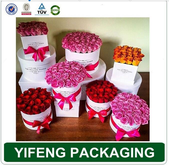 Luxe tube de papier cadeau emballage fleurs rubans d for Service livraison fleurs