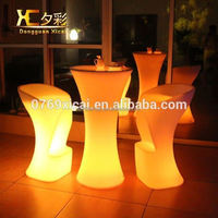 Chargeable Remote Control Plastic High LED Portable Bar Table