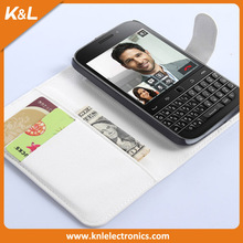 2015 Lichee Pattern Wallet Style Magnetic Flip Stand PC + PU Leather Cover Case for BlackBerry Q20 Classic Mobile Phone Case