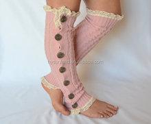 047 fashion ladies' winter pink leg warmer