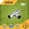 B505 Italian type female threaded 3 way brass push in rubber elbow pipe fittings