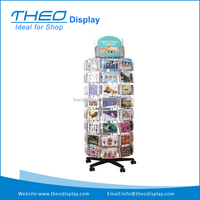 Greeting Card Rotating Free Standing Floor Retail Display Stand Spinner Rack