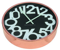 decorative big clock with rose gold color frame, a good home decor