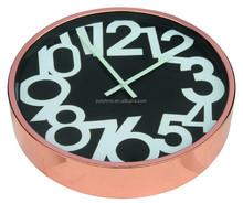 decorative big clock with rose gold color frame, a good home decor