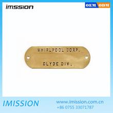 Custom metal logo for bag, alloy logo metal tag for hangbags