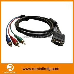 Best Perfermance 15Pin VGA to AV Cable VGA to RCA Splitter Cable