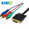 For video signals male vga to 3 rca Component cable