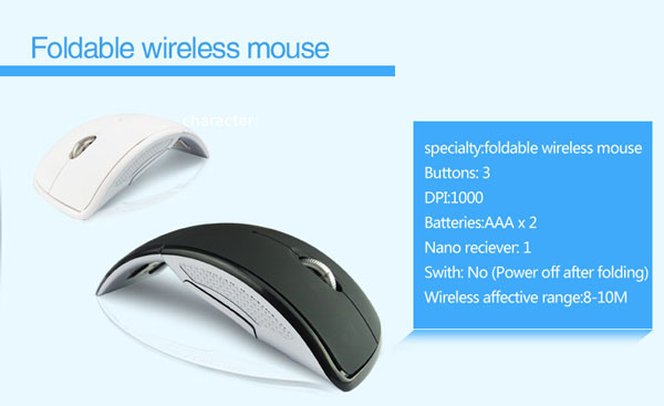 foldable optical mouse 2.4ghz wireless optical mouse driver mouse